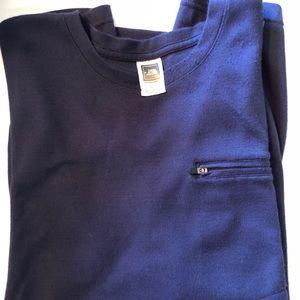 North Face CL designer vapor wick shirt blue